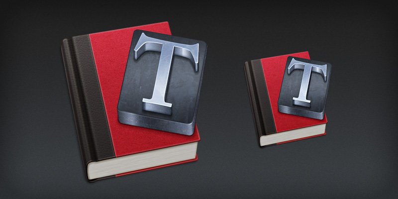 Mac app icon design for Typesetter