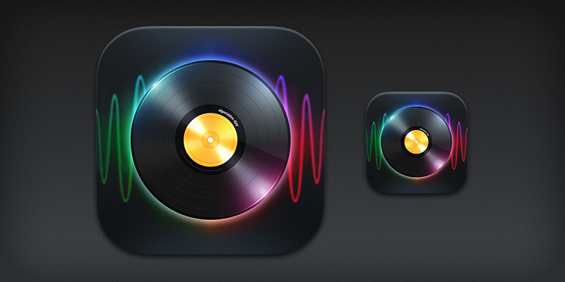 iPad app icon for djay 2