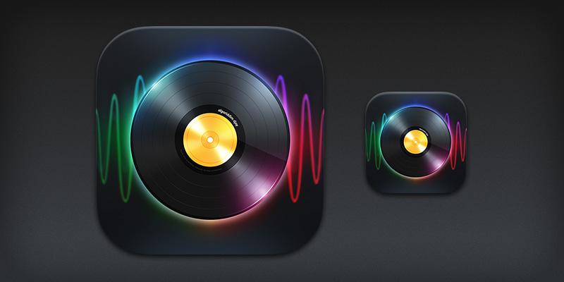 iPad app icon for djay 2