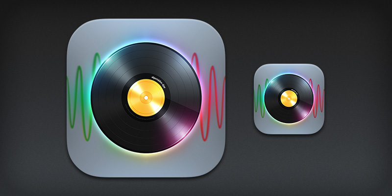 iPhone app icon for djay 2