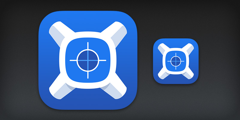 iOS 7 app icon design for xScope Mirror