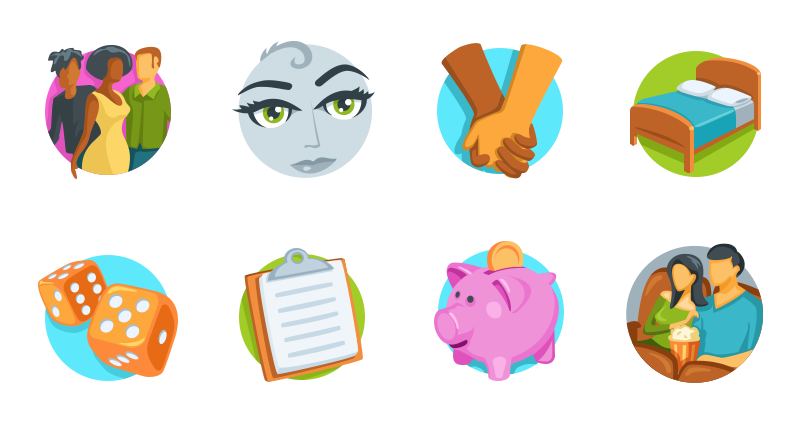 Sweet Pea Dating Profile Icons