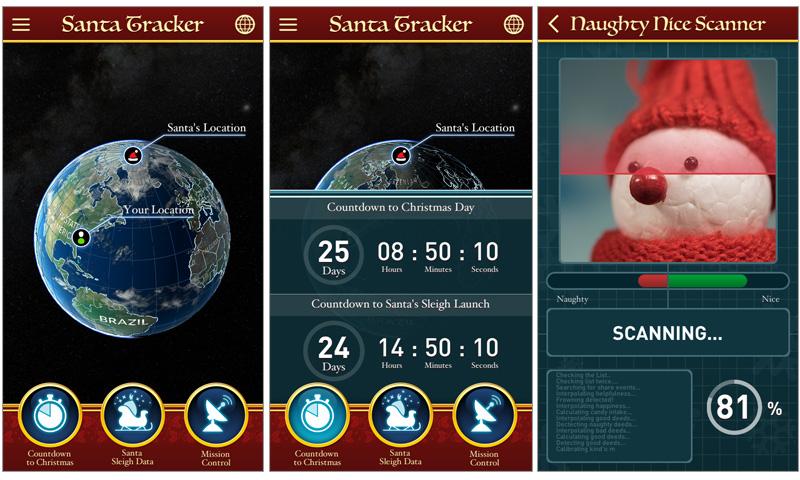 Santa Tracker UI