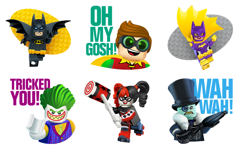 The LEGO Batman Movie Sticker Set