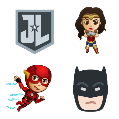 Official Justice League Emoji & Stickers