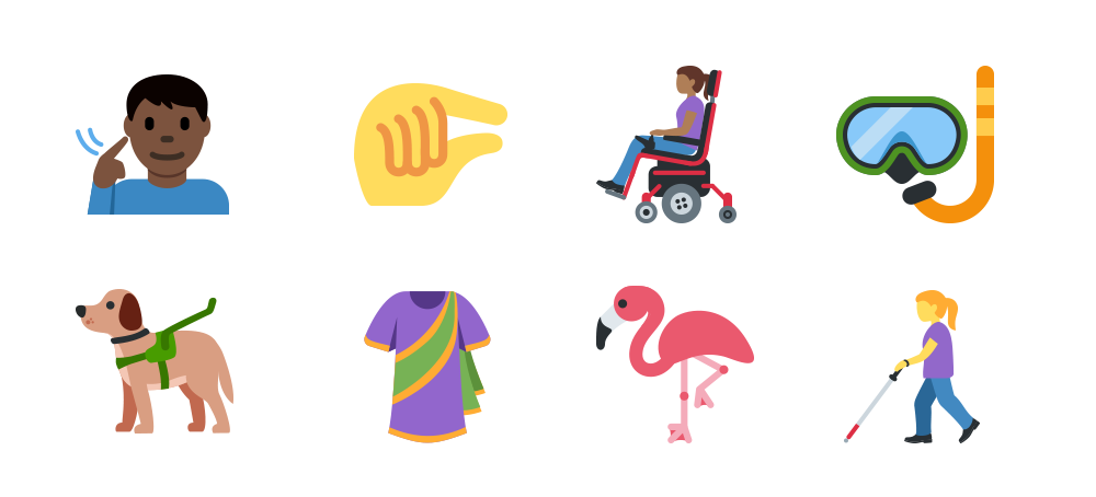 Twitter Emoji Unicode 11 examples including a lobster, partying face, human DNA, ball of yarn and more