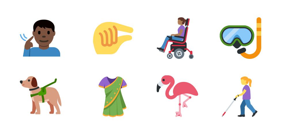 Twitter Emoji Unicode 12 examples