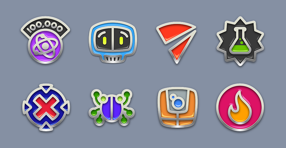 Frenzic Overtime achievement icons for Apple Arcade